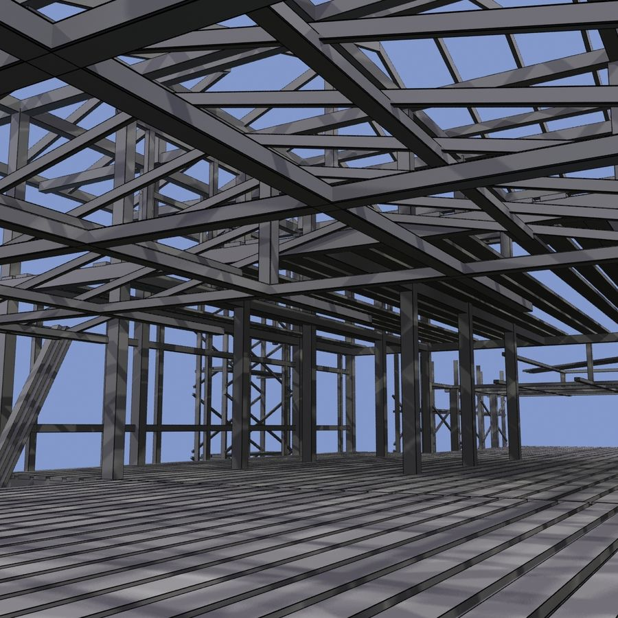 Construction Building royalty-free 3d model - Preview no. 12
