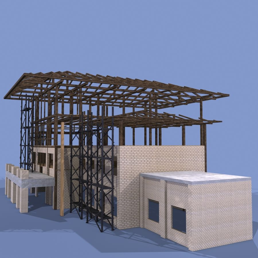 Construction Building royalty-free 3d model - Preview no. 3