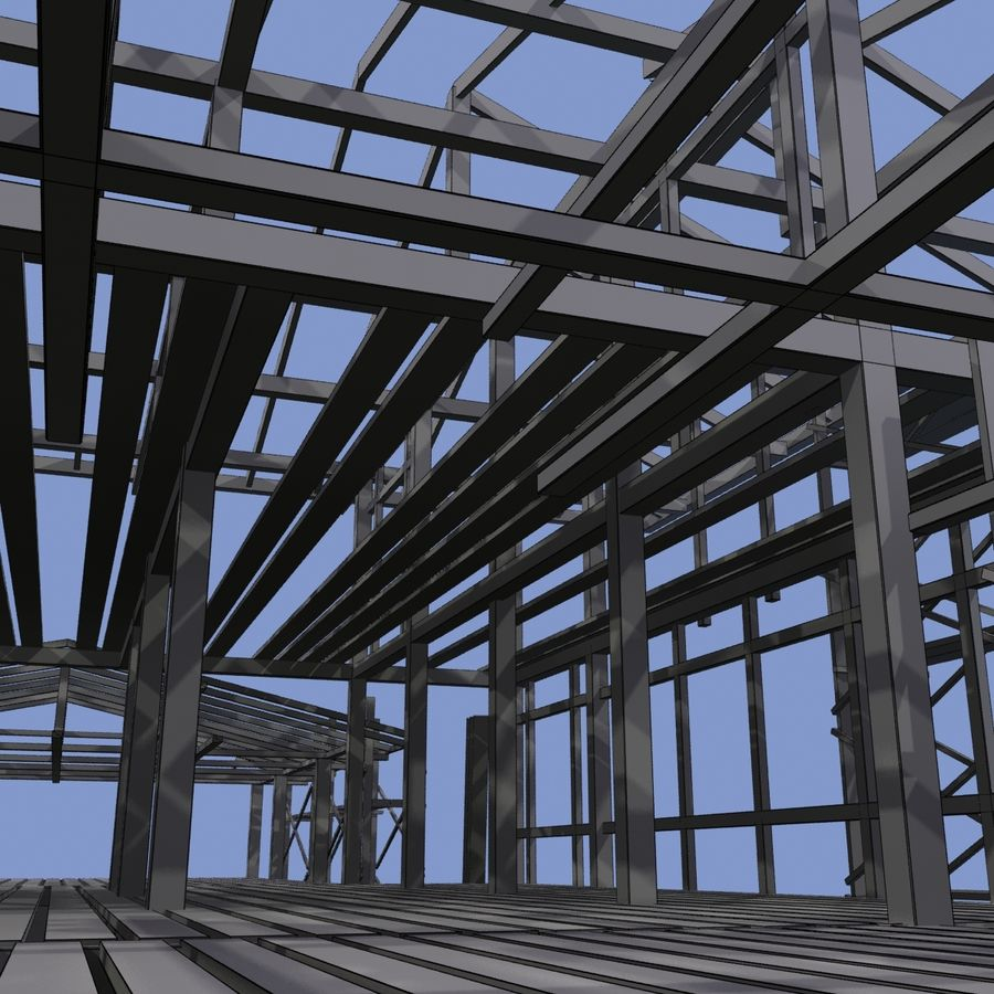 Construction Building royalty-free 3d model - Preview no. 11