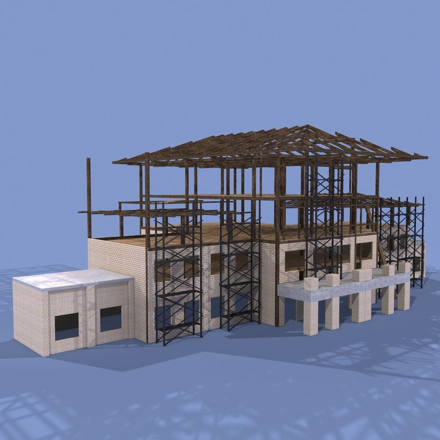 Construction Building royalty-free 3d model - Preview no. 1