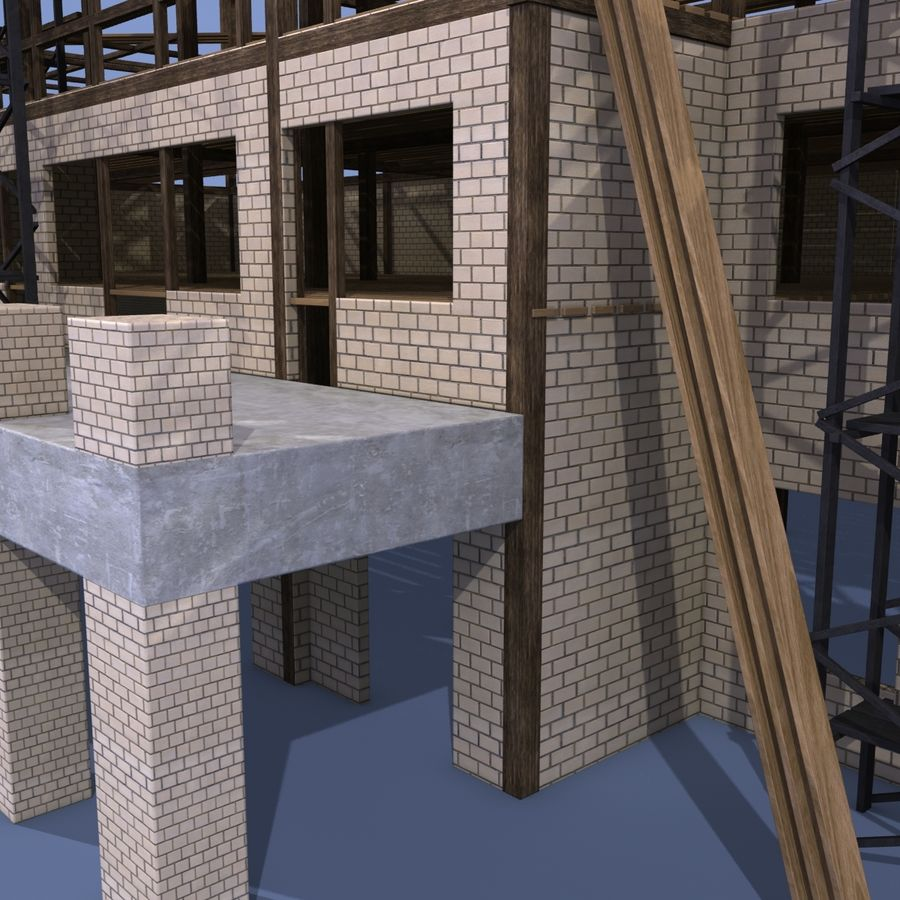 Construction Building royalty-free 3d model - Preview no. 8