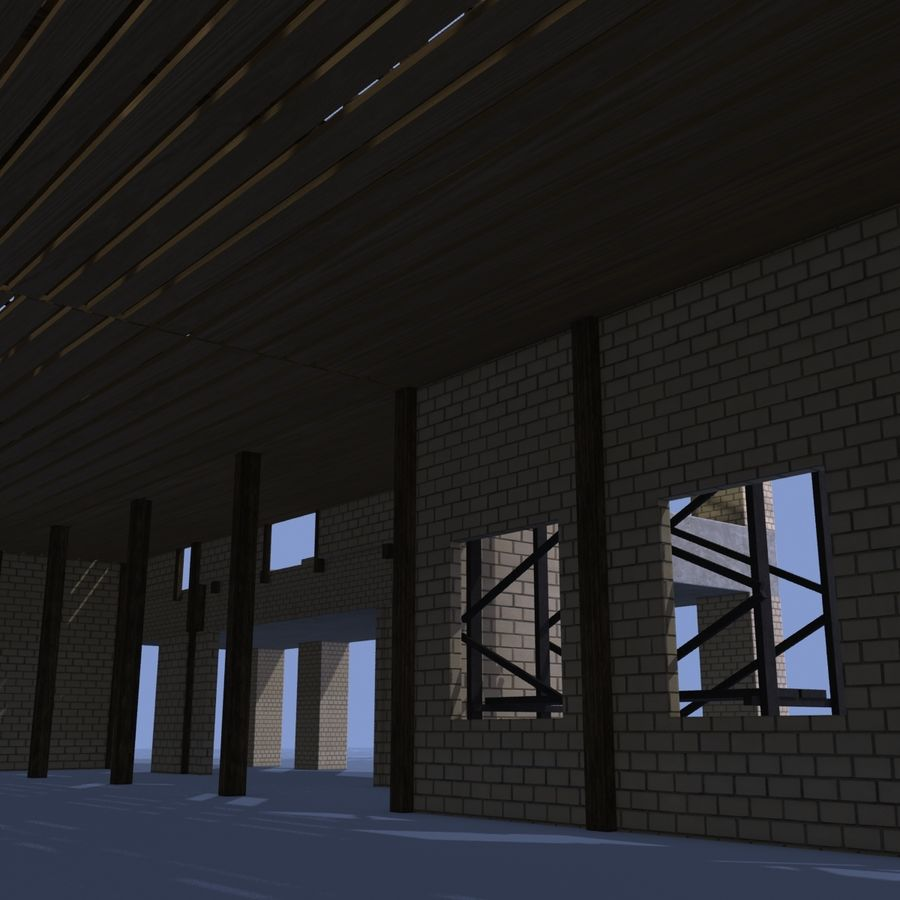 Construction Building royalty-free 3d model - Preview no. 10