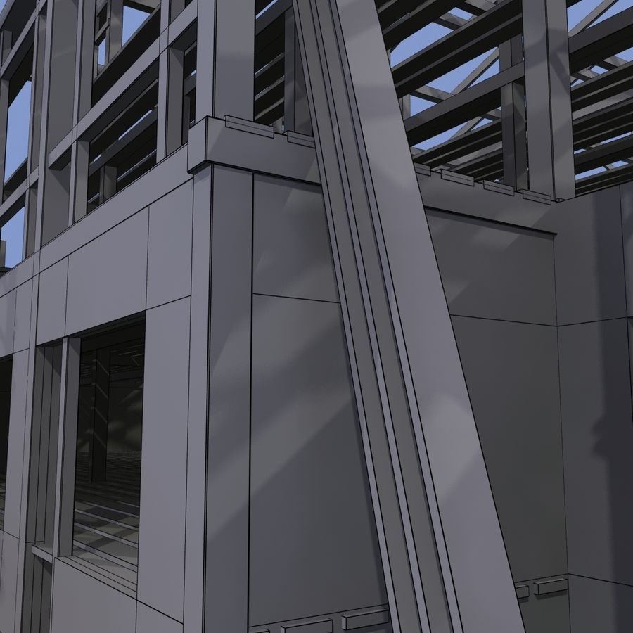Construction Building royalty-free 3d model - Preview no. 16