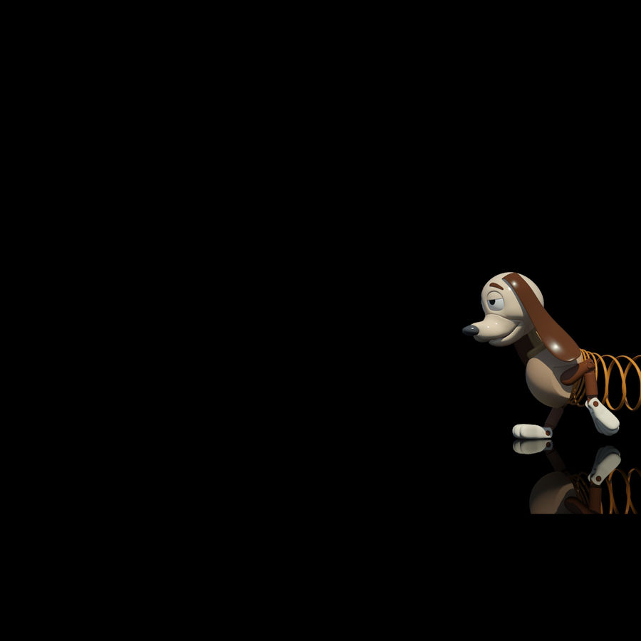 Slinky Dog royalty-free 3d model - Preview no. 6