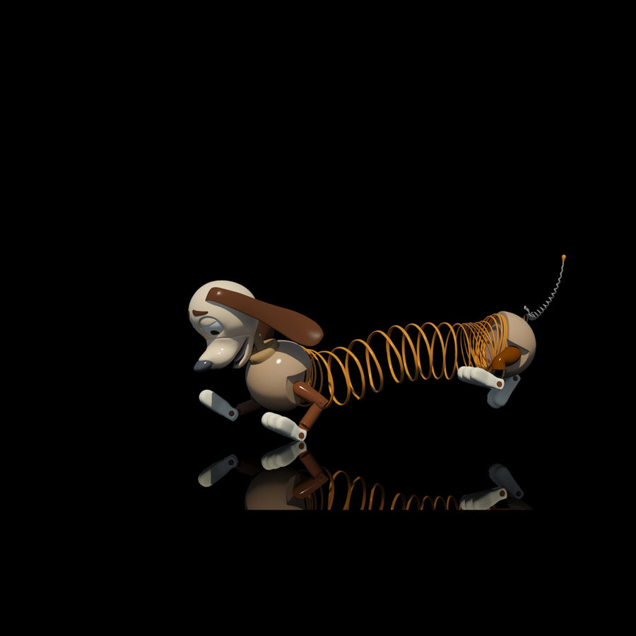 Slinky Dog royalty-free 3d model - Preview no. 5