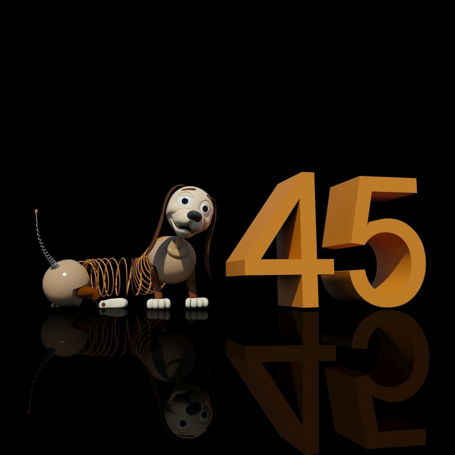 Slinky Dog royalty-free 3d model - Preview no. 1