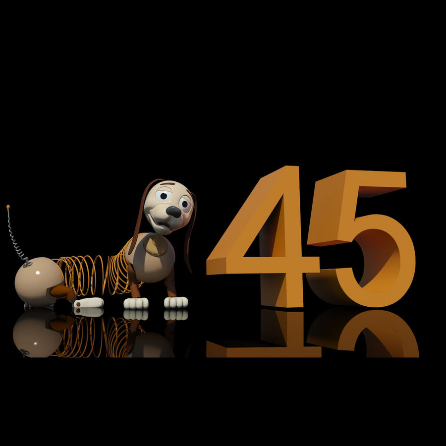 Slinky Dog royalty-free 3d model - Preview no. 10