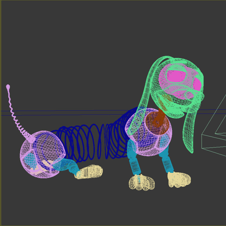 Slinky Dog royalty-free 3d model - Preview no. 3