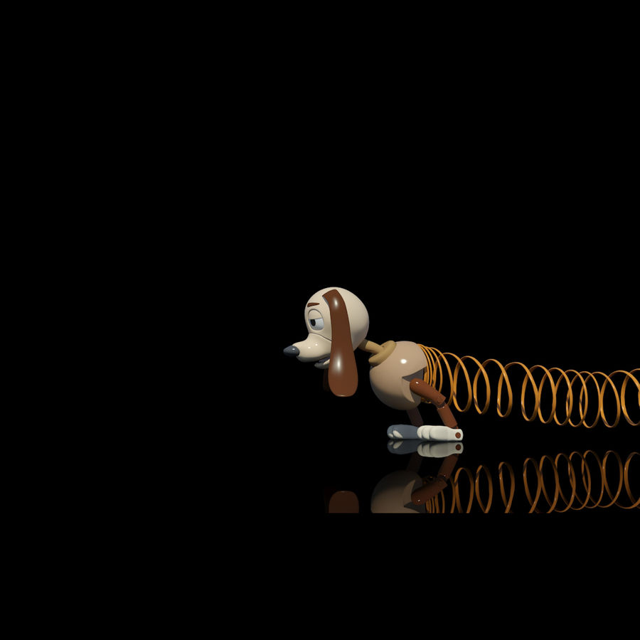 Slinky Dog royalty-free 3d model - Preview no. 8