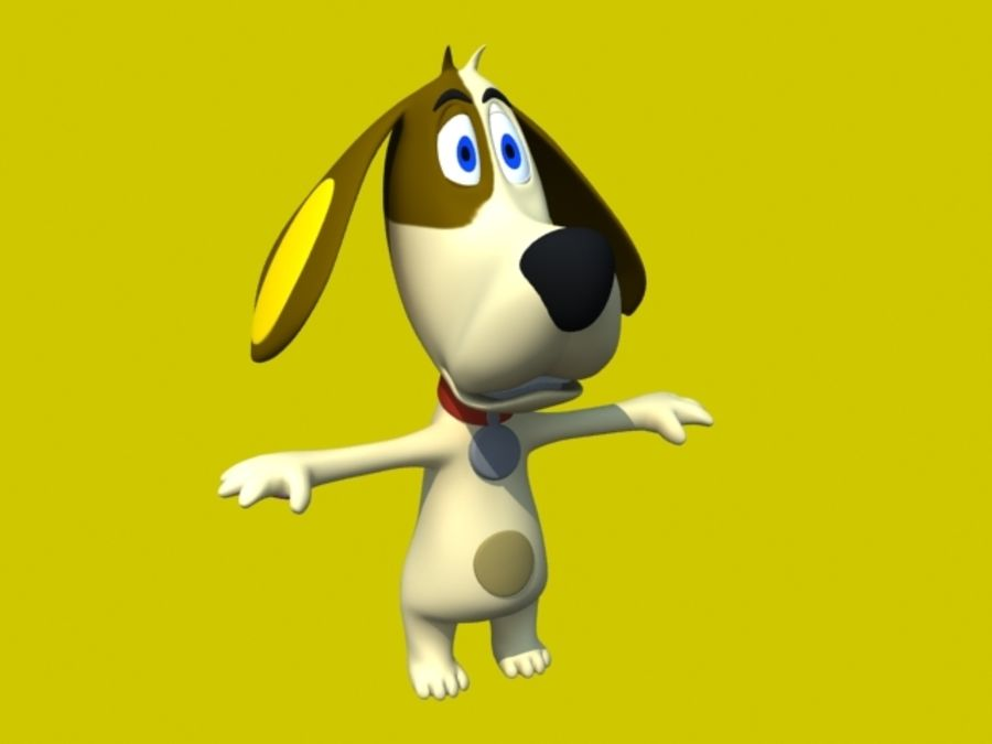 Dog Cartoon royalty-free 3d model - Preview no. 1