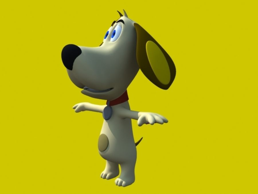 Dog Cartoon royalty-free 3d model - Preview no. 2