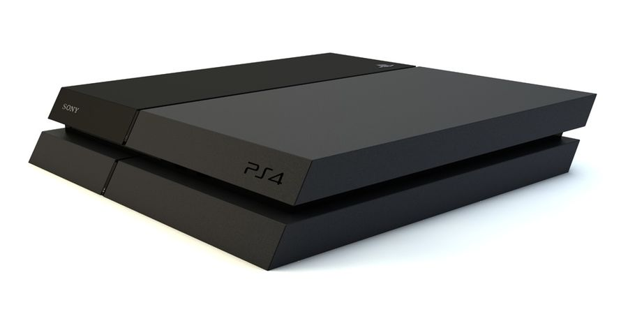Sony PlayStation 4 royalty-free 3d model - Preview no. 1