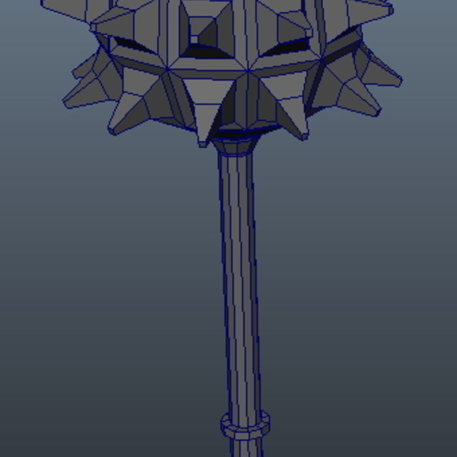 Ancient Weapon_01 royalty-free 3d model - Preview no. 3