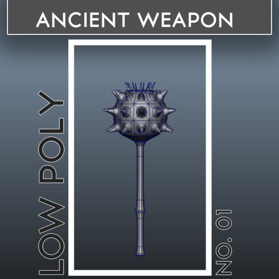 Ancient Weapon_01 royalty-free 3d model - Preview no. 1