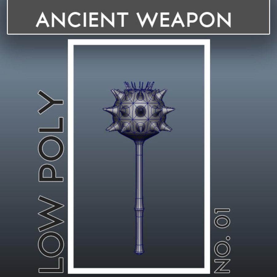古代武器_01 royalty-free 3d model - Preview no. 1