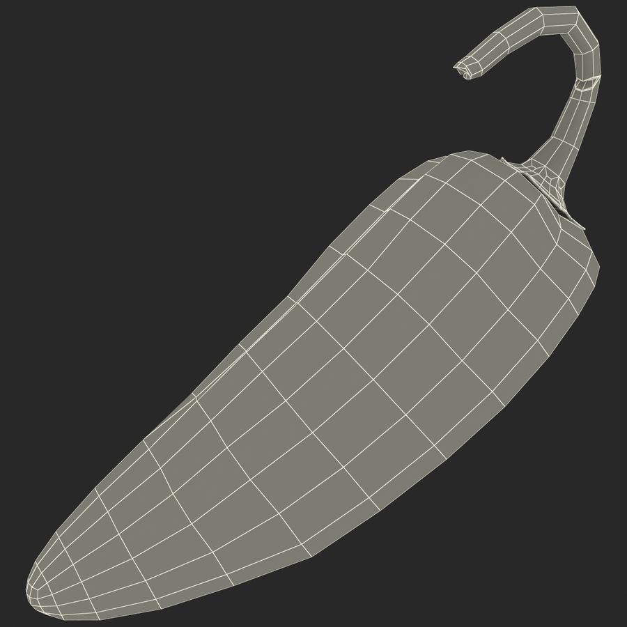 Jalapeno Pepper royalty-free 3d model - Preview no. 21