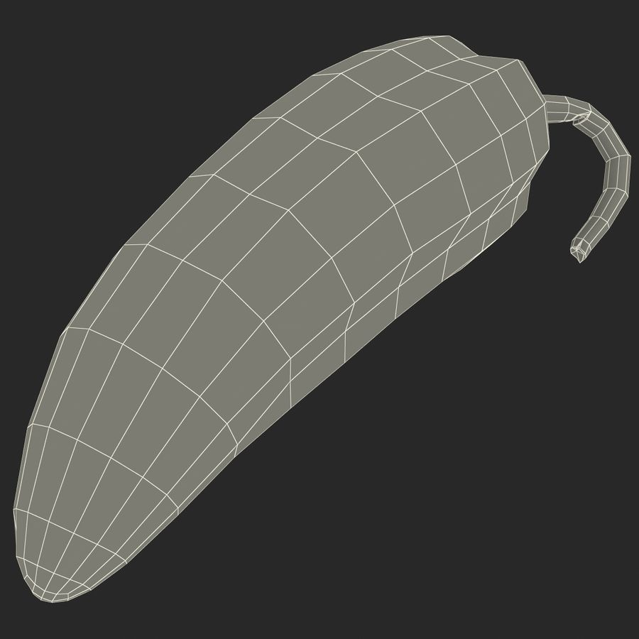 Jalapeno Pepper royalty-free 3d model - Preview no. 15