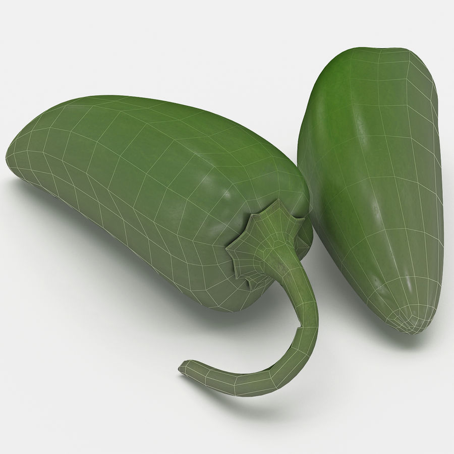 Jalapeno Pepper royalty-free 3d model - Preview no. 3