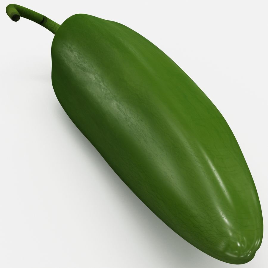 Jalapeno Pepper royalty-free 3d model - Preview no. 12