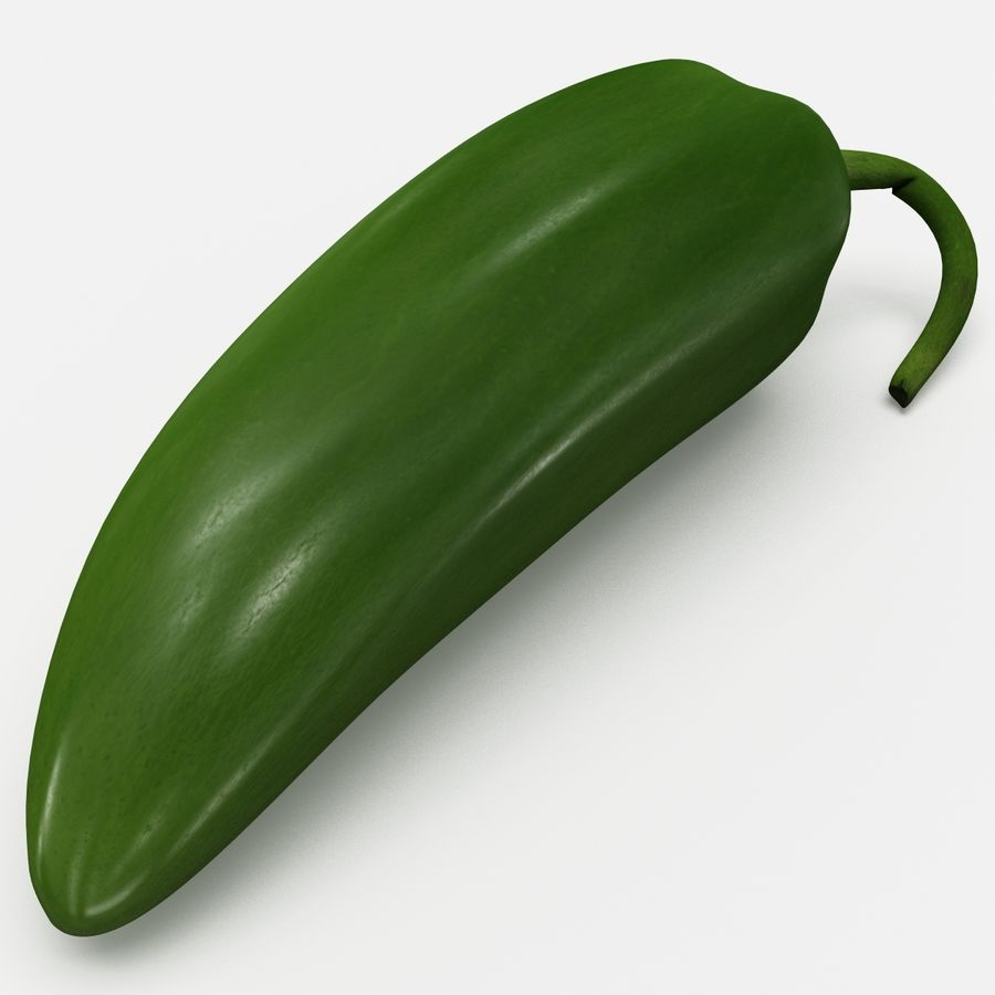 Jalapeno Pepper royalty-free 3d model - Preview no. 4