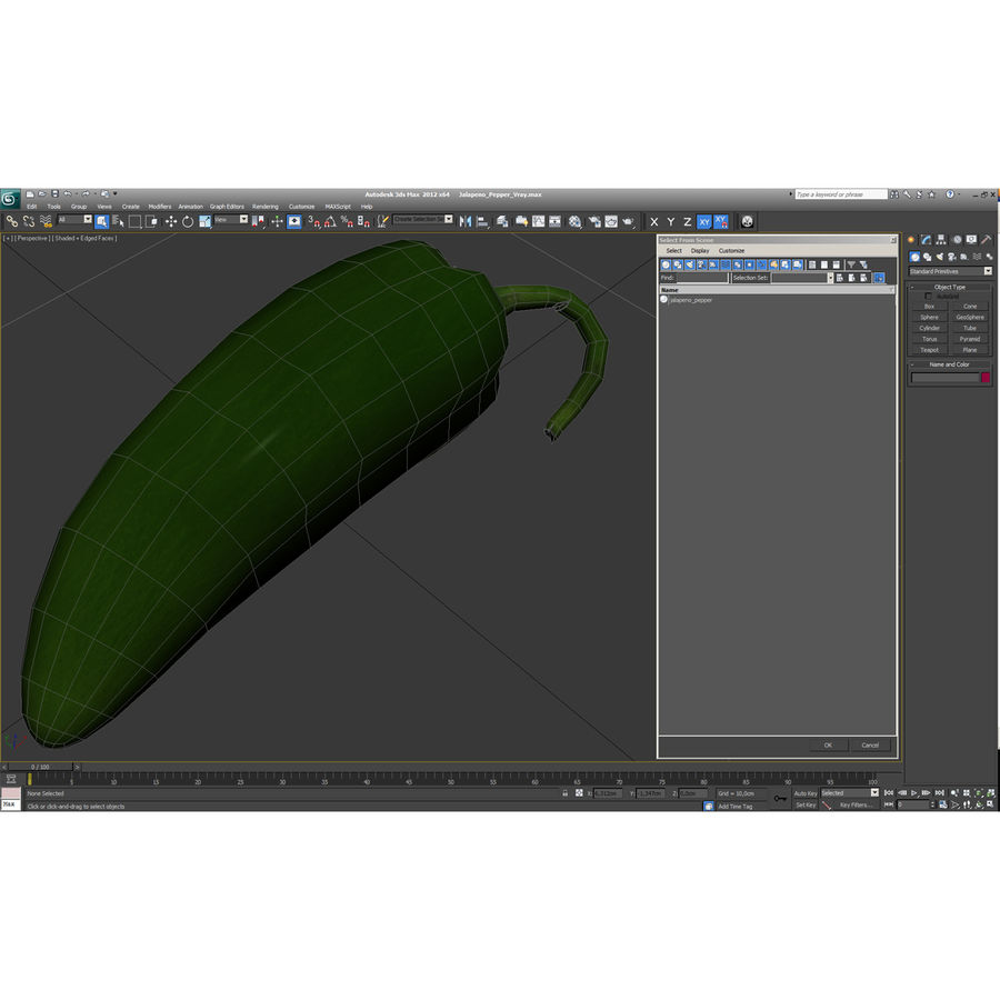 Jalapeno Pepper royalty-free 3d model - Preview no. 27