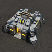 Command center v.3 sci-fi building 3d model