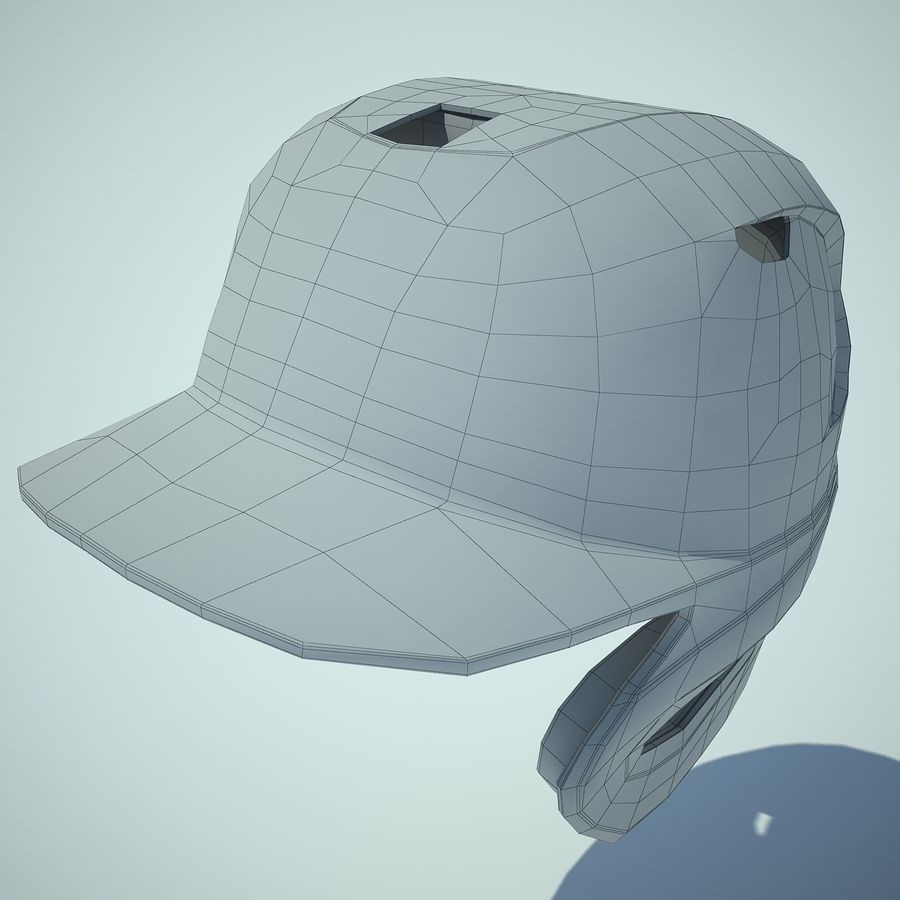 Baseball Helmet 02 3d Model 39 Unknown Max Obj Fbx