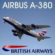 空中客车A380英国航空公司 3d model