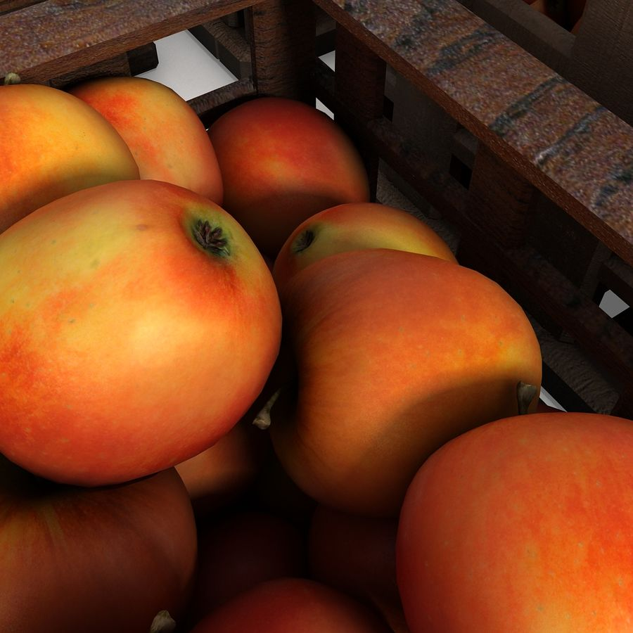 Apple Market Wood Crates royalty-free 3d model - Preview no. 14
