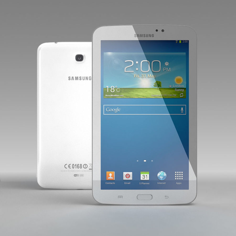 Samsung Galaxy Tab 3 royalty-free 3d model - Preview no. 6