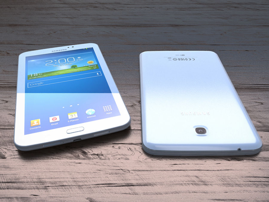 Samsung Galaxy Tab 3 royalty-free 3d model - Preview no. 10