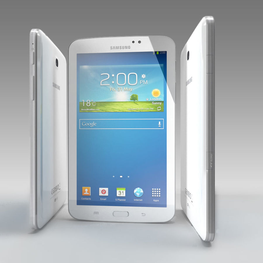 Samsung Galaxy Tab 3 royalty-free 3d model - Preview no. 4