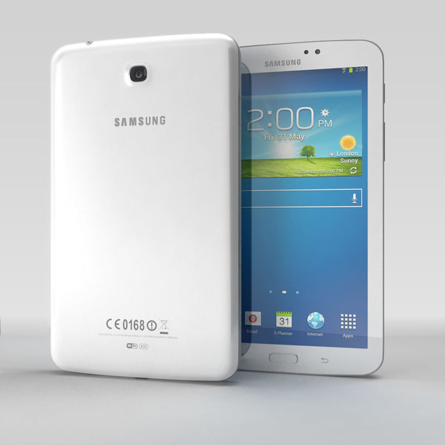 Samsung Galaxy Tab 3 royalty-free 3d model - Preview no. 1