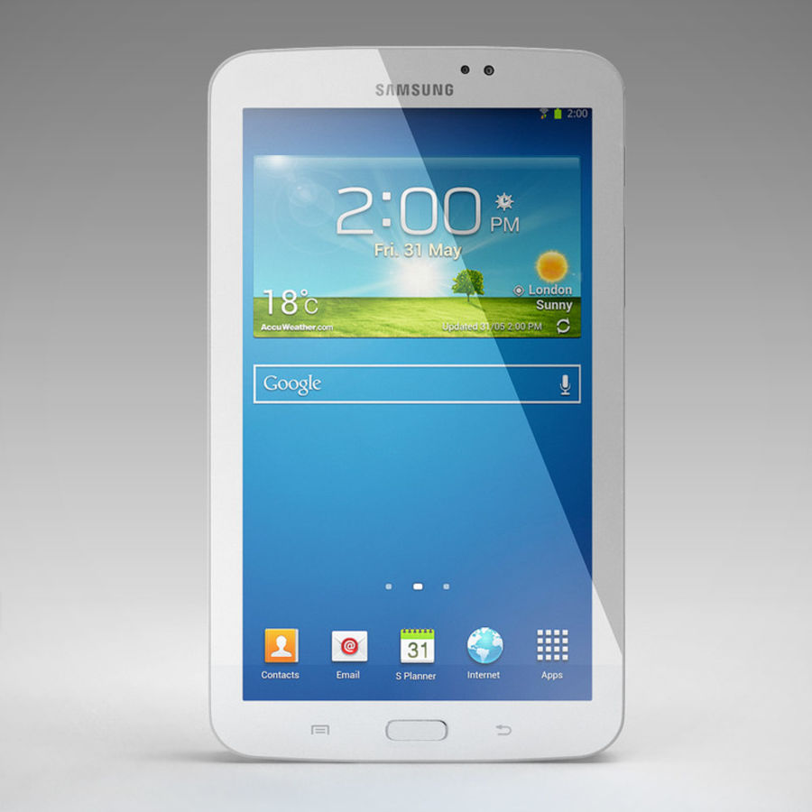 Samsung Galaxy Tab 3 royalty-free 3d model - Preview no. 2