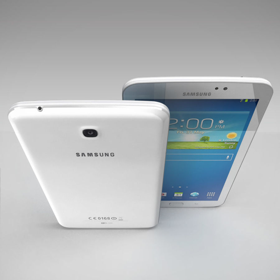 Samsung Galaxy Tab 3 royalty-free 3d model - Preview no. 5