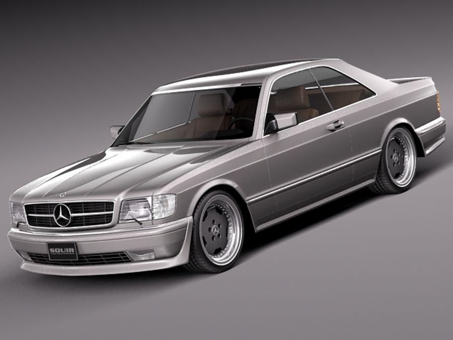 Mercedes benz w126 560 sec amg 1991 3d model 99 obj for Mercedes benz 560 sec