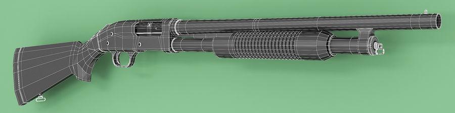 Shotgun royalty-free 3d model - Preview no. 7