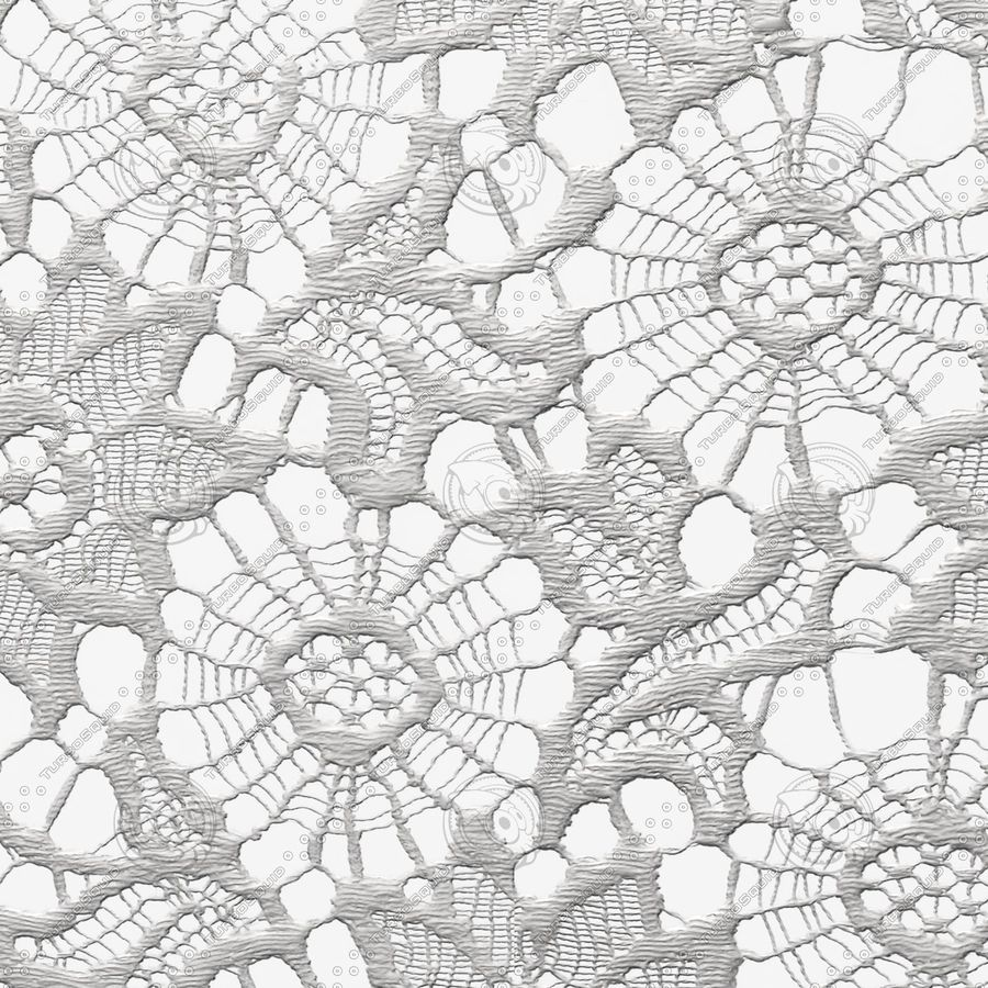 Lace (seamless) royalty-free 3d model - Preview no. 4