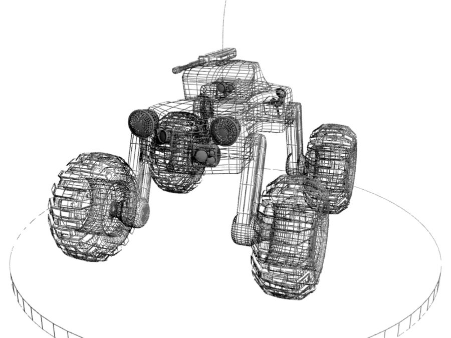 Drone vehicle royalty-free 3d model - Preview no. 6