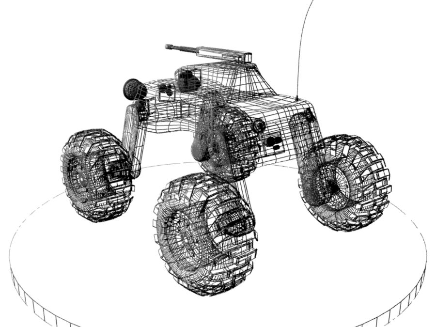 Drone vehicle royalty-free 3d model - Preview no. 5