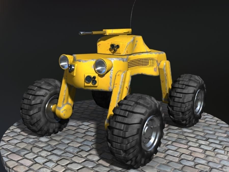 Drone vehicle royalty-free 3d model - Preview no. 1