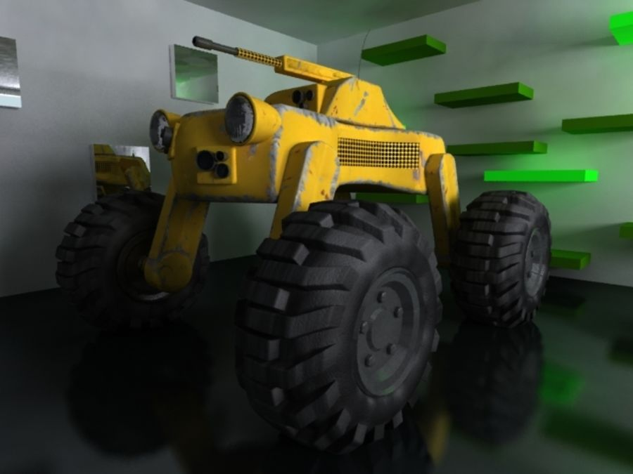 Drone vehicle royalty-free 3d model - Preview no. 7