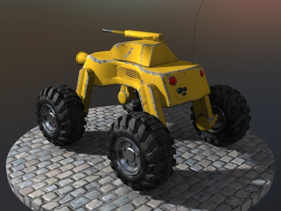 Drone vehicle royalty-free 3d model - Preview no. 2