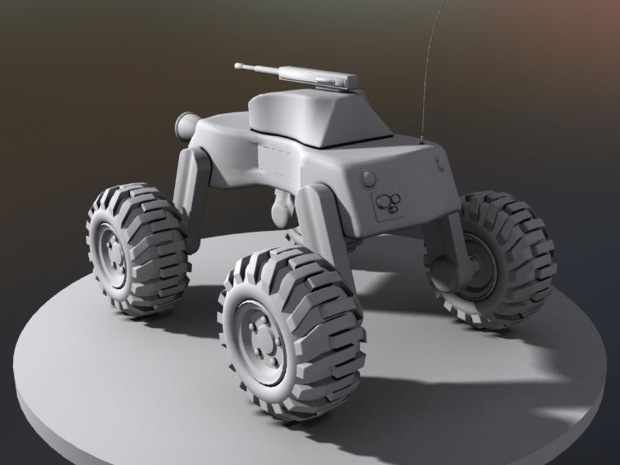 Drone vehicle royalty-free 3d model - Preview no. 4