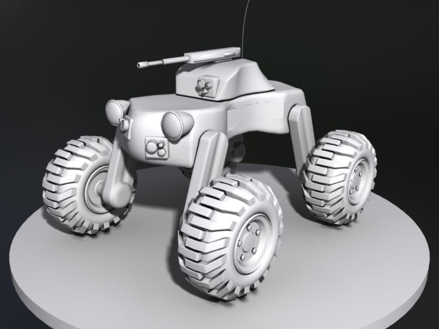 Drone vehicle royalty-free 3d model - Preview no. 3