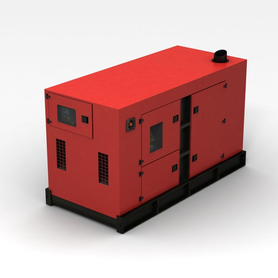 Generator Red royalty-free 3d model - Preview no. 1