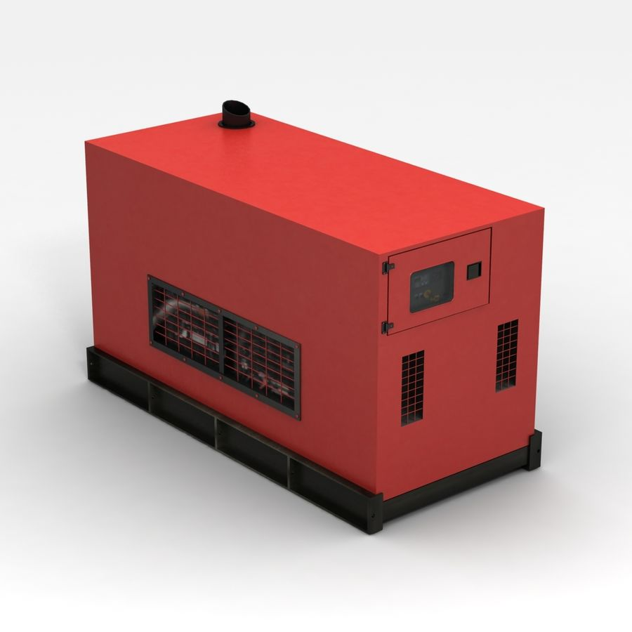 Generator Red royalty-free 3d model - Preview no. 6