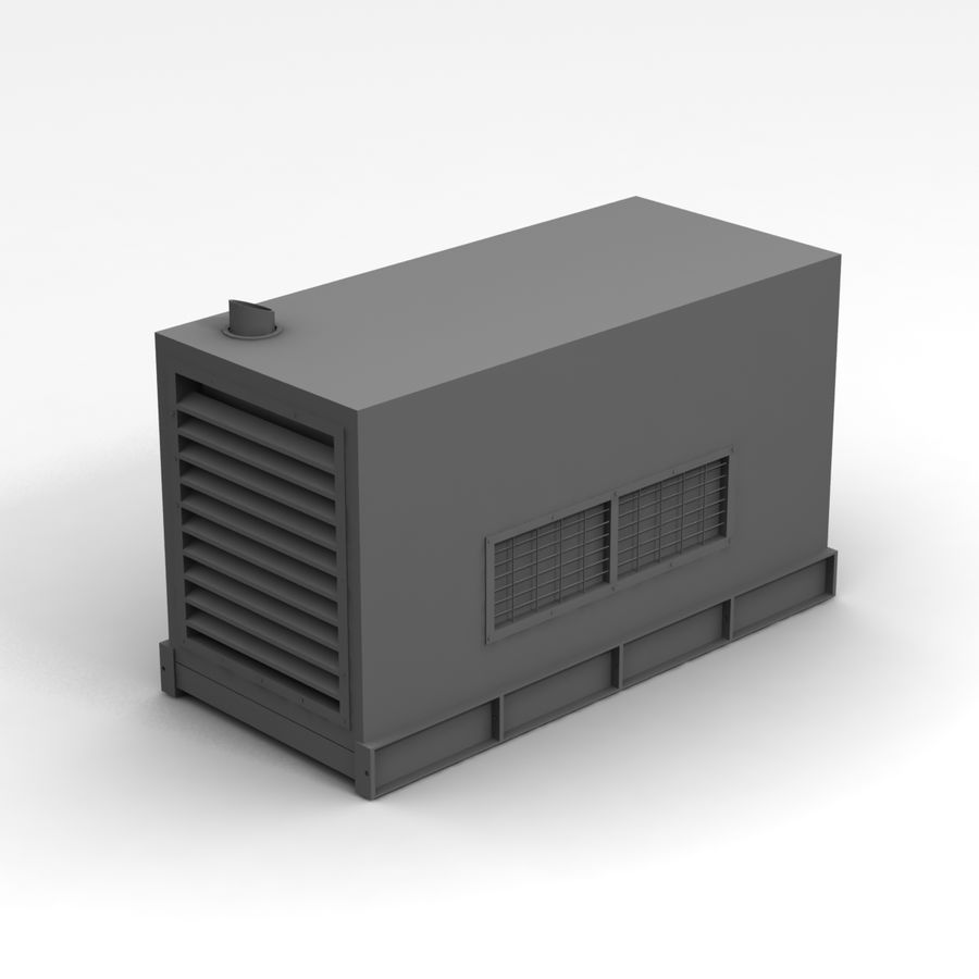 Generator Red royalty-free 3d model - Preview no. 11
