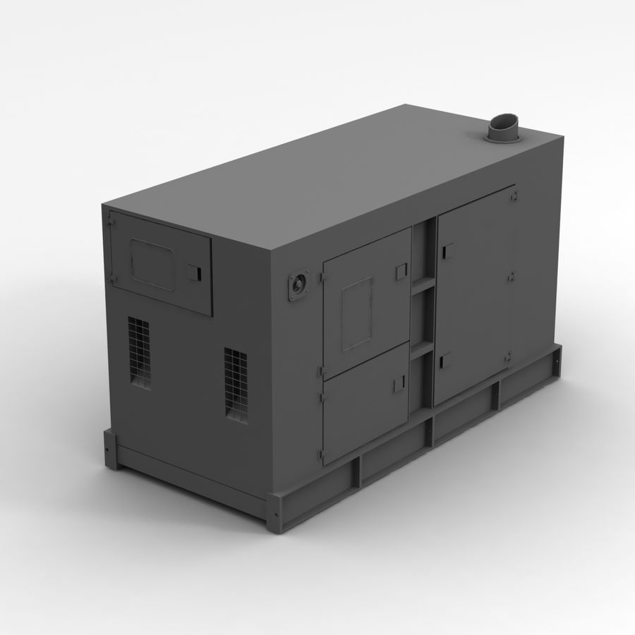 Generator Red royalty-free 3d model - Preview no. 7