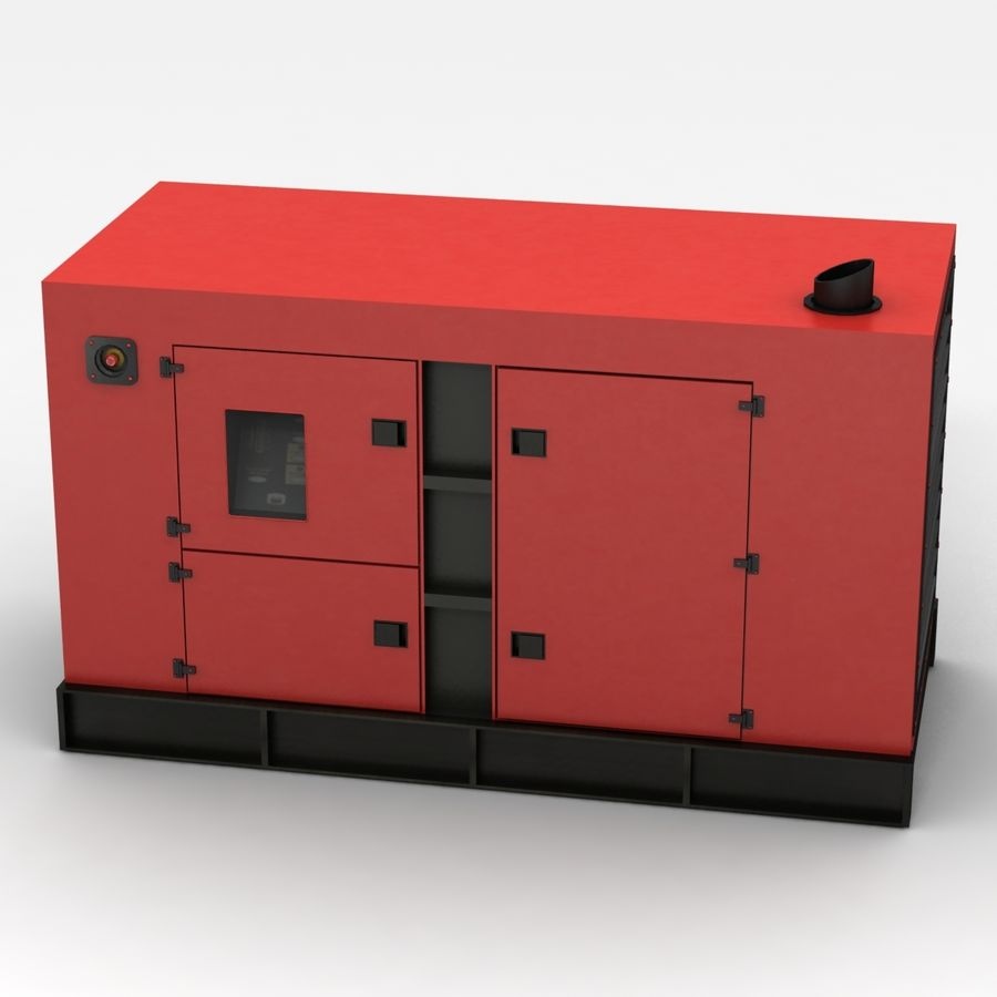 Generator Red royalty-free 3d model - Preview no. 2